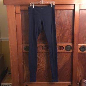 Splits59 navy full legging w/ heel opening sz s